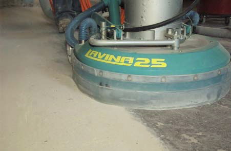 Grinding is the most common way to mechanically strip a concrete floor before a new sealer or finish is applied. It is also the first step in polishing.
