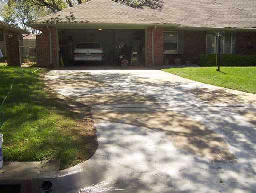 A look at the driveway before the overlay was applied.