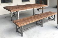 Concrete table and bench that looks like wood