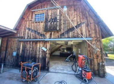 A rustic barn