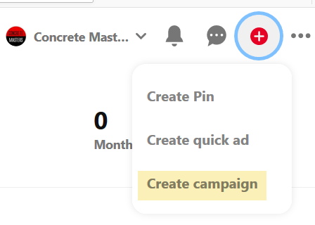 Create your campaign on Pinterest