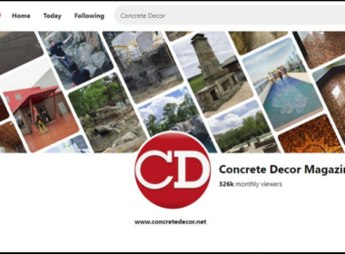 Front of the pinterest page for Concrete Decor