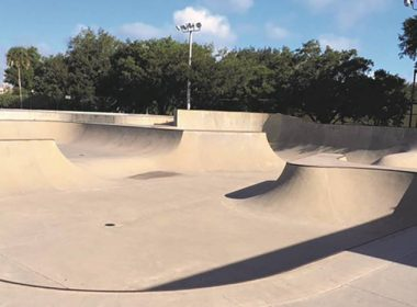A large skatepark made with Type K cement
