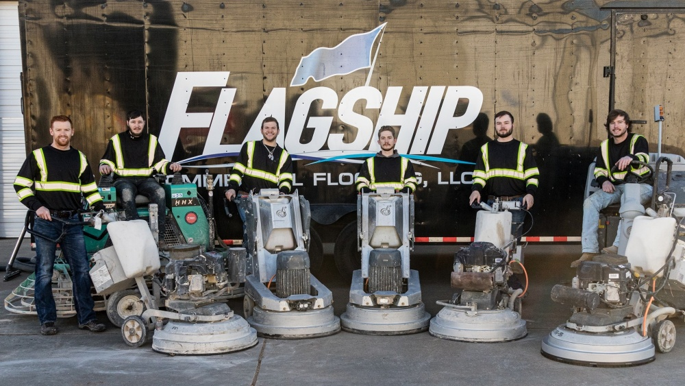 a fleet of 30-inch Lavina Grinders at the Flagship company in Texas