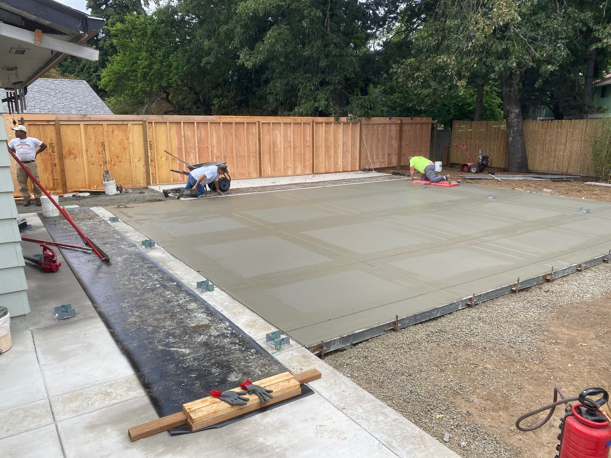 a concrete patio can be a lot of hard work