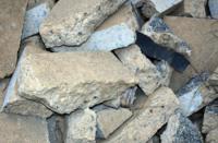 A pile of broken up concrete