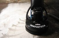 Innovatech grinder on a concrete floor
