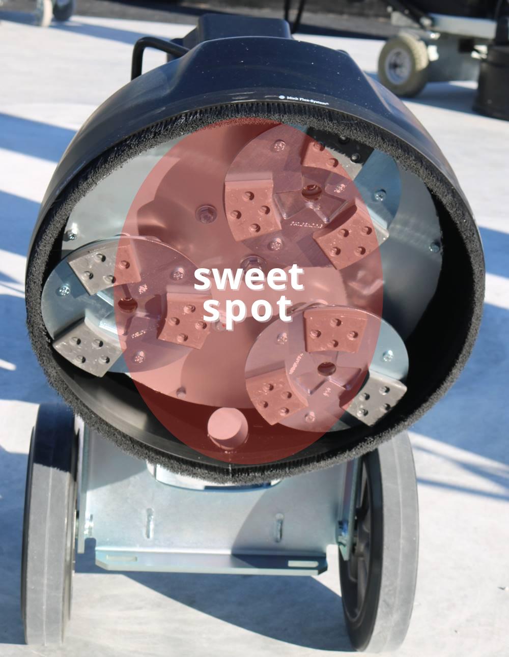 Determining a Concrete Grinder's Sweet Spot