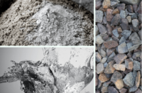 the three parts of concrete- water, aggregate and cement