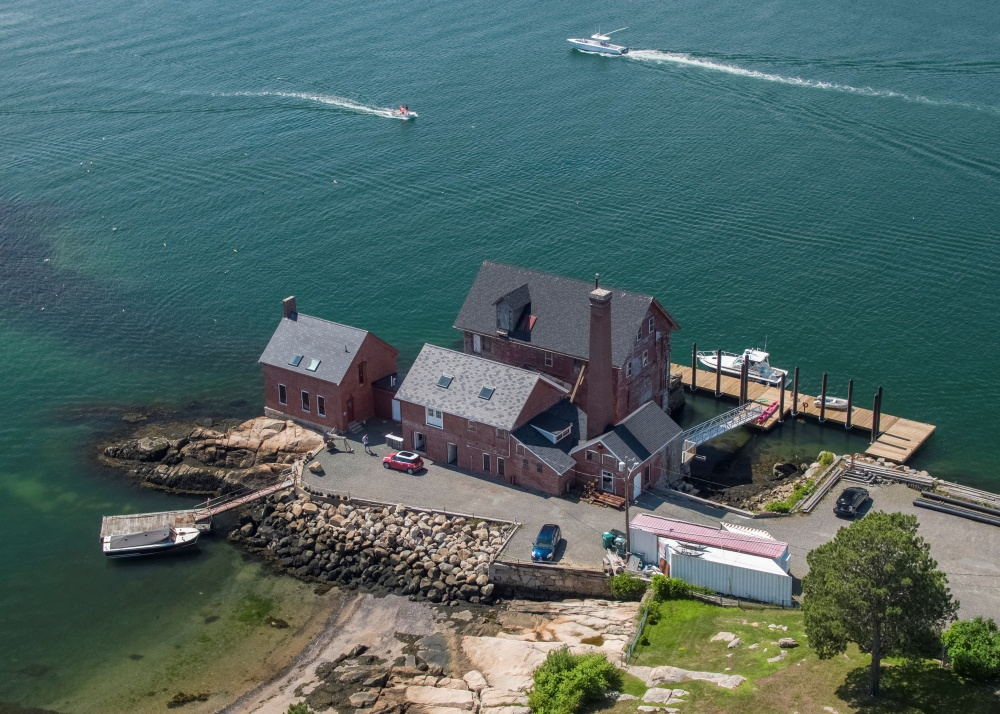 An aerial view of the Whale Conservatory where custom-made stencils were installed