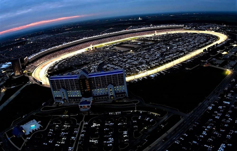 Texas Motor Speedway at night