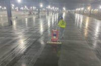 Ultra-Trak in use applying sealer to concrete