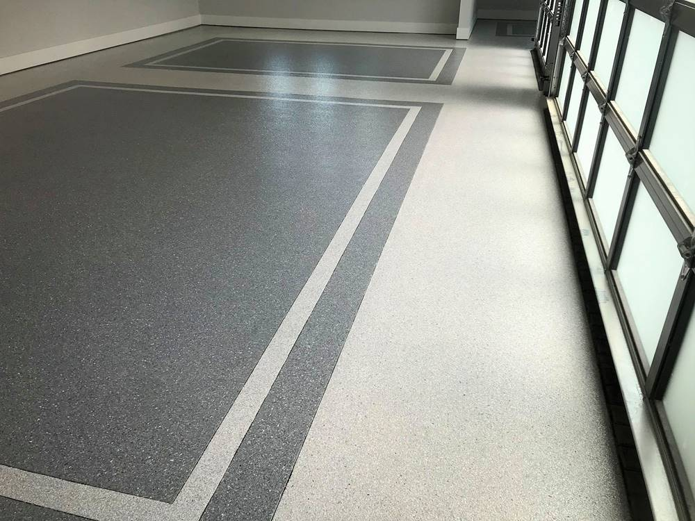 broadcasting vinyl chips can look very high-end as seen here in a dual-tone floor system