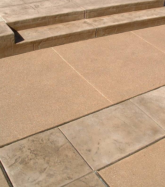 Standstone finish, using joints integrated into the entire pattern.
