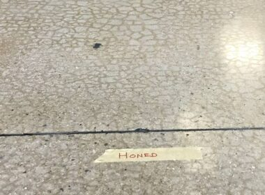 craze cracks on a polished concrete floor