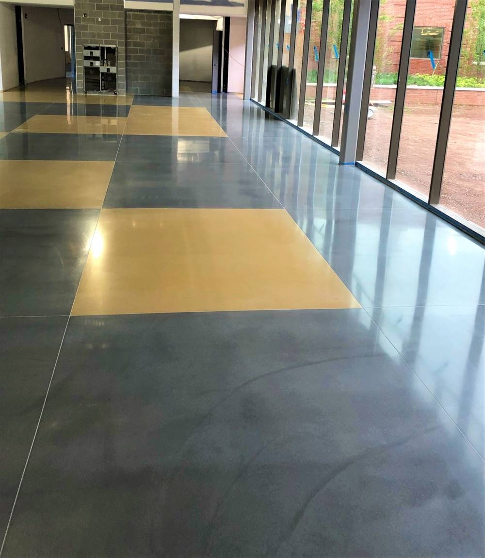 CTS RapidSet was used in this elementary school flooring for its durability