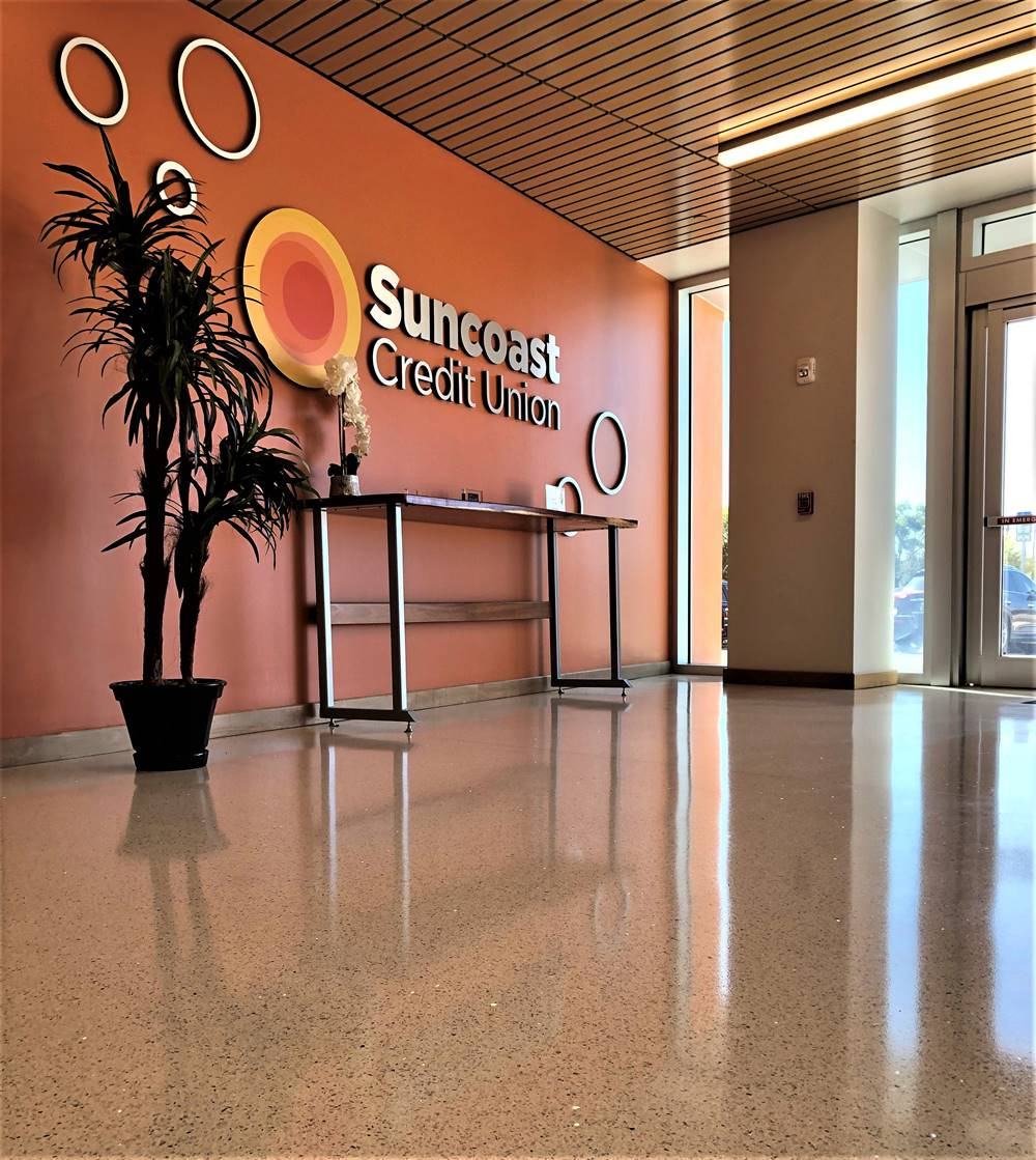 A urethane coating by Ultra Durable Technologies was installed in a Credit Union in Florida