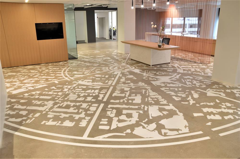 Edelman stenciling project - lobby