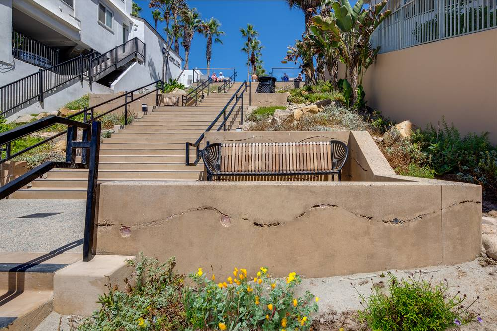 Ocean Street beach access project - Decorative Concrete