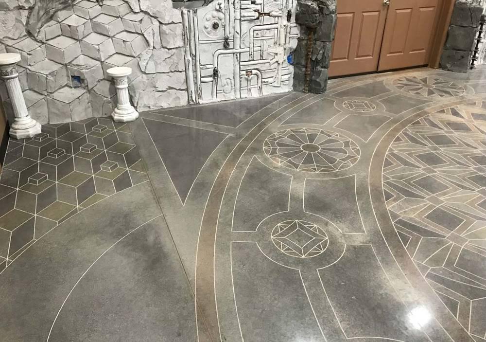 concrete floor at the Decorative Concrete Institute