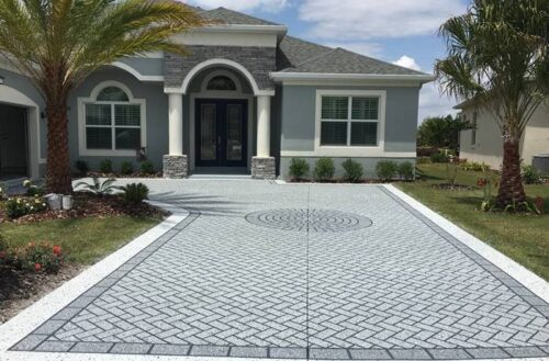 concrete stencils for driveways