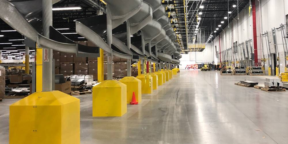 the newly rebranded Superflat Precision Concrete Solutions uses its expertise in an Amazon warehouse