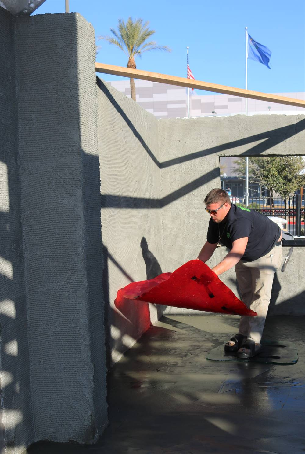 Fuscardo working hard at the 2020 Decorative Concrete LIVE! held in Las Vegas last February