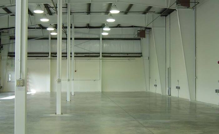 Isolation Expansion in a warehouse - one of the other types of control joint