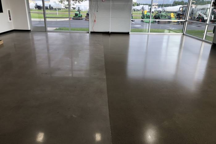 Impact Sealer for Concrete on this showroom floor