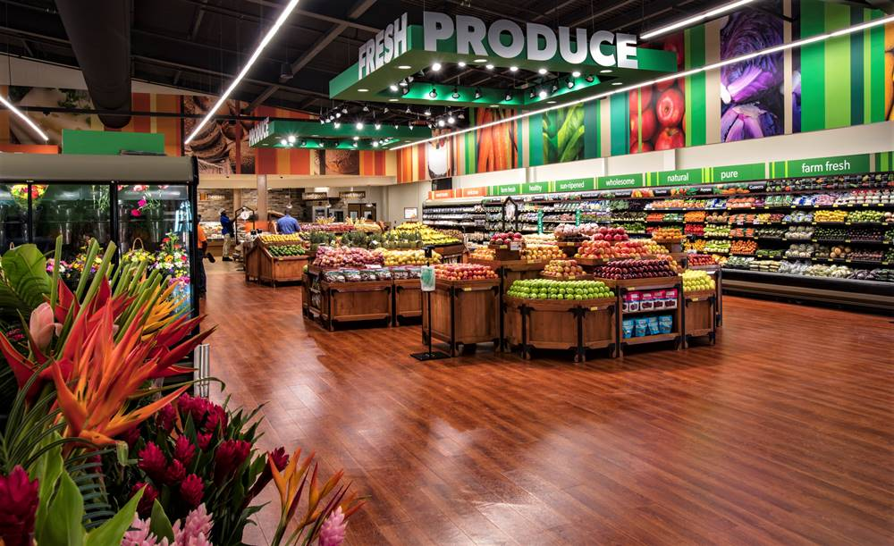 cement-based underlayment created this state of the art supermarket in Barbados