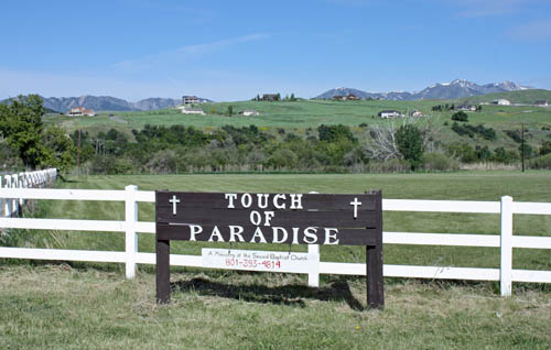 The Touch of Paradise camp, in Paradise, Utah, serves up to 66 children at a time and is operated by the Second Baptist Church, of Ogden, Utah