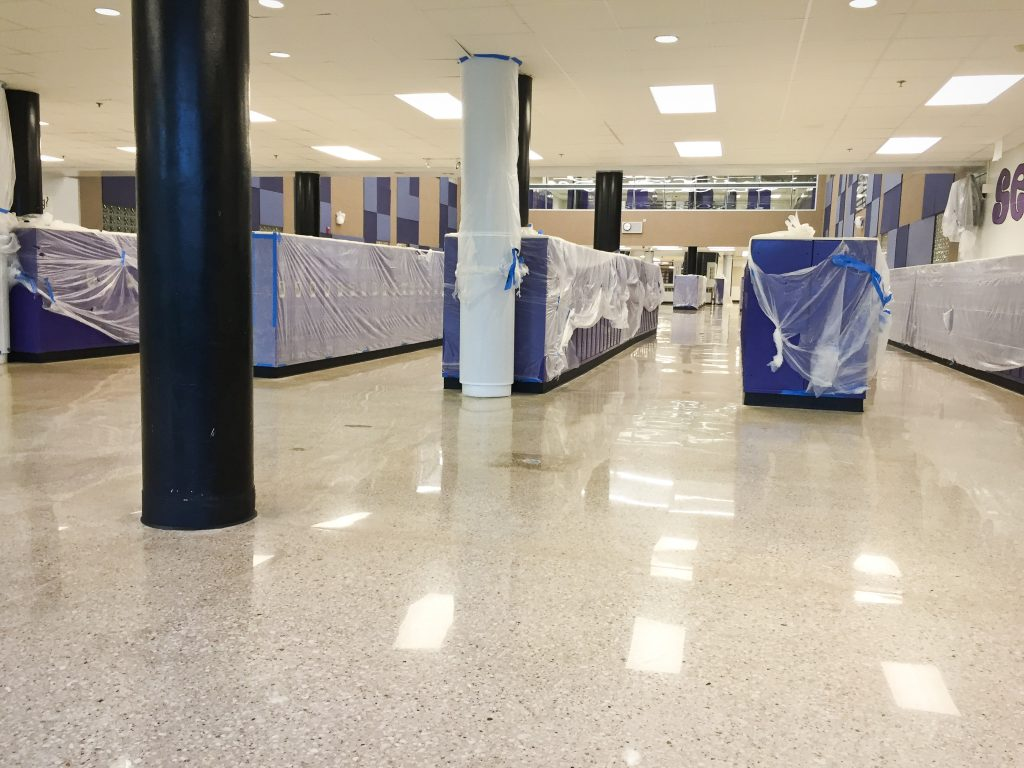 Blue Valley School District polished concrete project