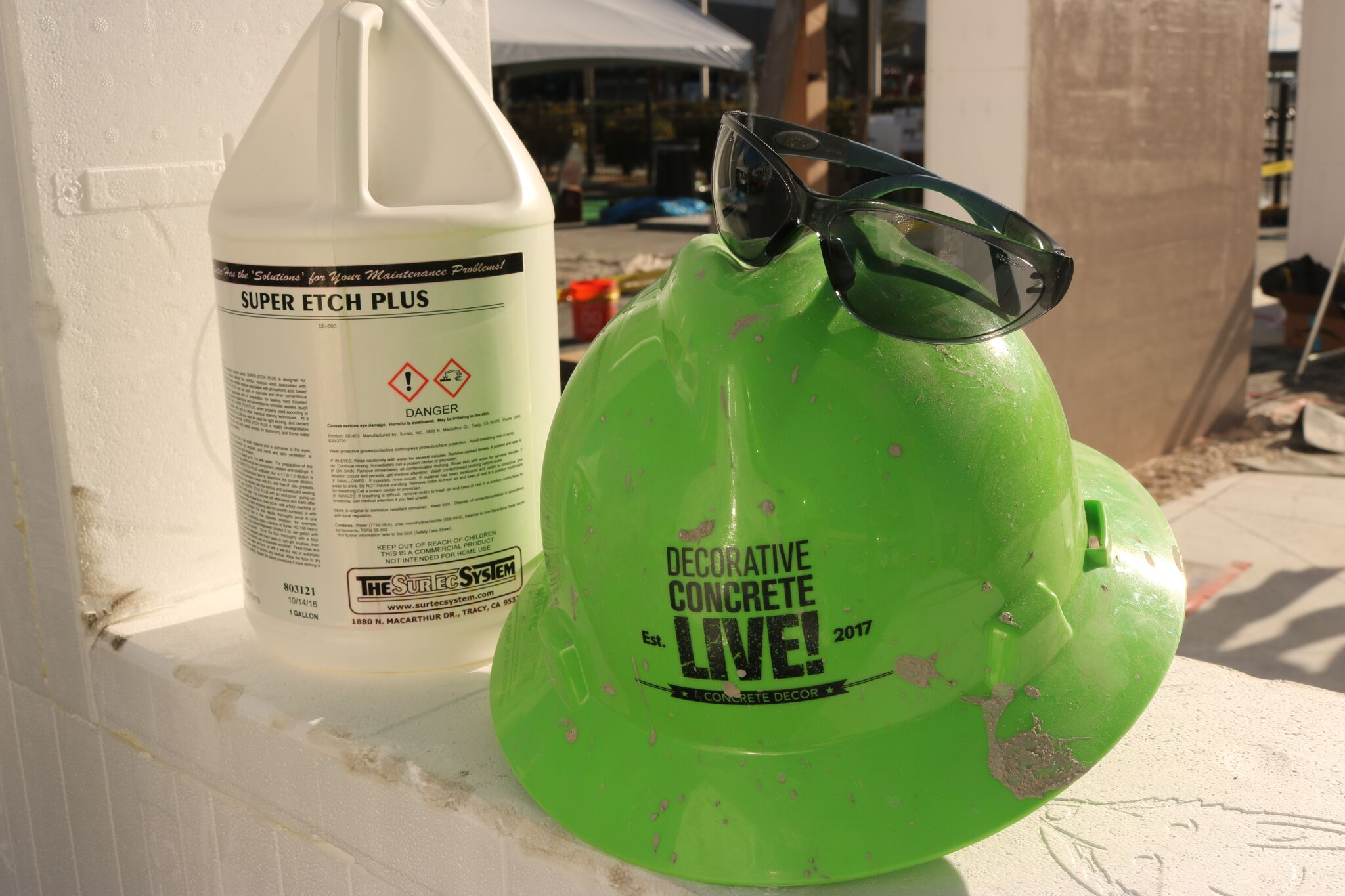 decorative concrete live hats and super etch plus