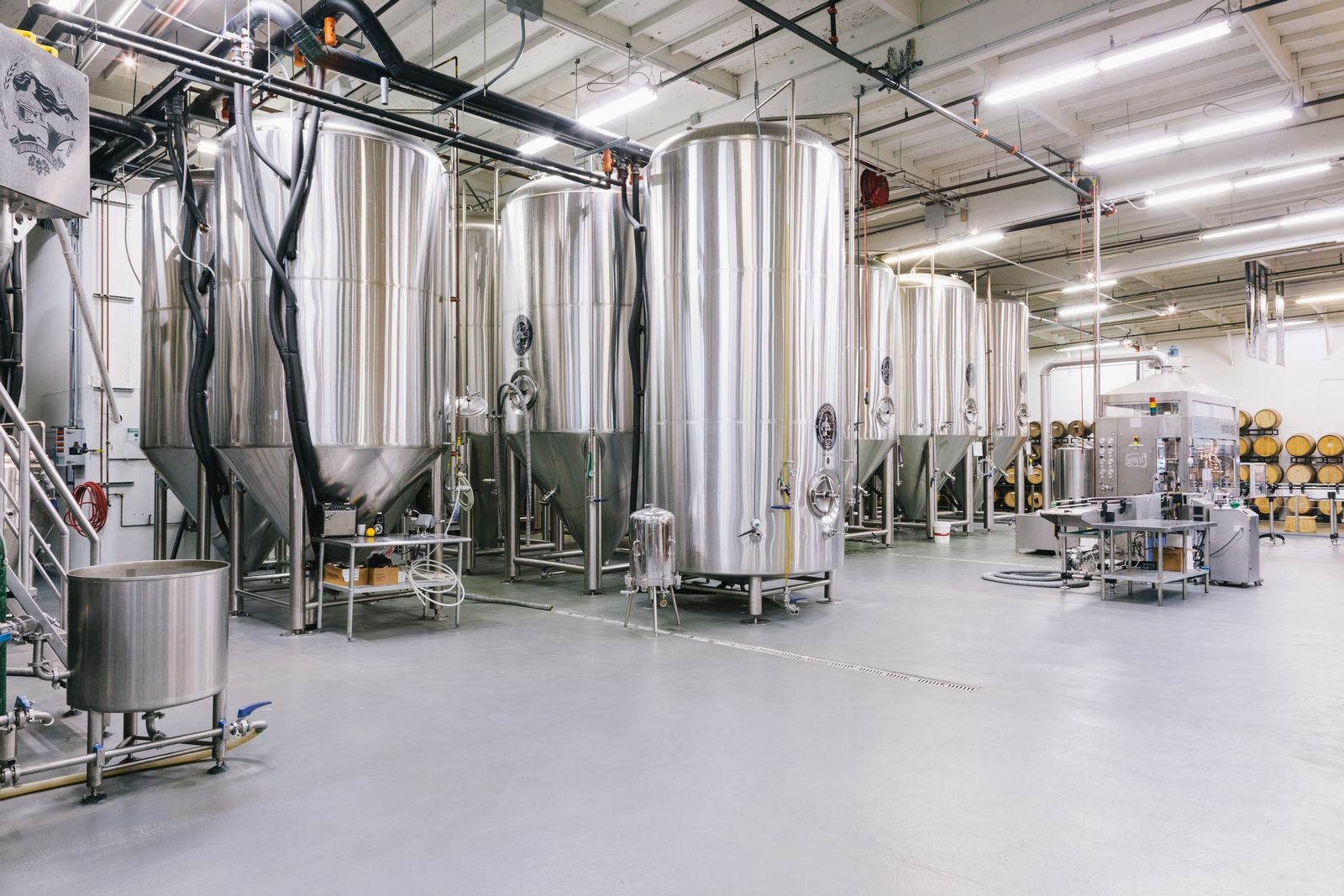 The family brewery in Coronodo California used Stonhard's product to shore up problems on the concrete floor.