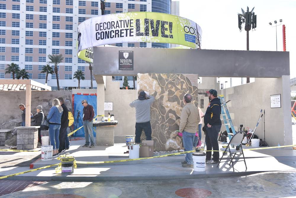 decorative concrete live at the world of concrete