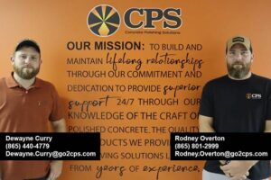 concrete polishing contractors are new hires at CPS