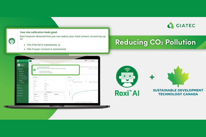 ROXI AI by Giatec takes aim at reducing CO2 pollution on construction sites