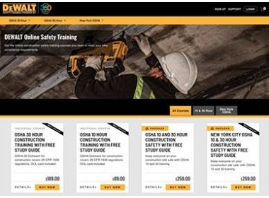 Course offerings for online and mobile-optimized OSHA Training
