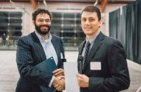 Thomas Glenn receiving the Gaining Strength Award from ASCC.