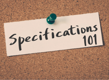 Specifications 101 by CSI and Rob Blank & Associates