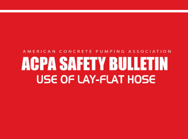 American Concrete Pumping Association safety bulletin