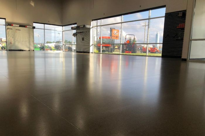 Durable andThin-FilmSystems on a concrete floor