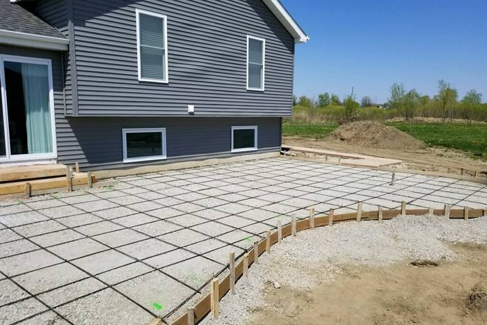 GatorBar as seen here on this curved concrete patio received the first composite rebar industry's first ICC‐ES