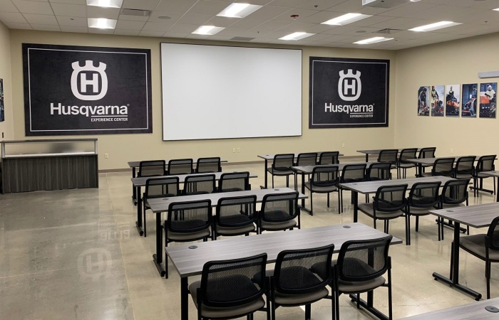 classroom space at the Husqvarna Construction Experience Center