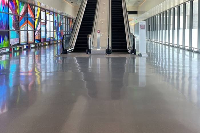 Clean Flooring Trend as seen here in an airport