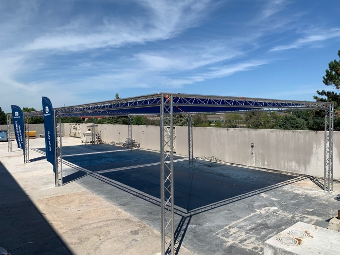 Husqvarna Construction Experience Center outdoor training space