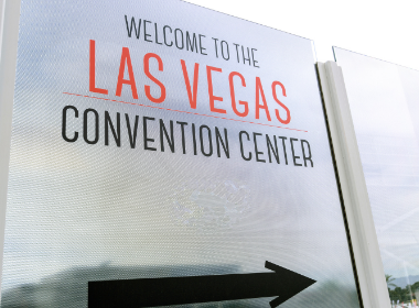 World of Concrete in June 2021 - LVCC sign