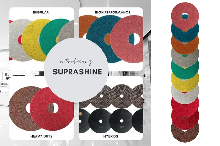 floor maintenance pads - SupraShine by Superabrasive