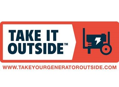 Promoting safe generator use with the Take Me Outside campaign.