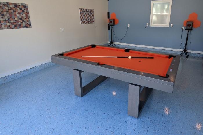 Versatile Photo Contest Winner - Triton Flooring - Epoxy coated basement with custom flakes